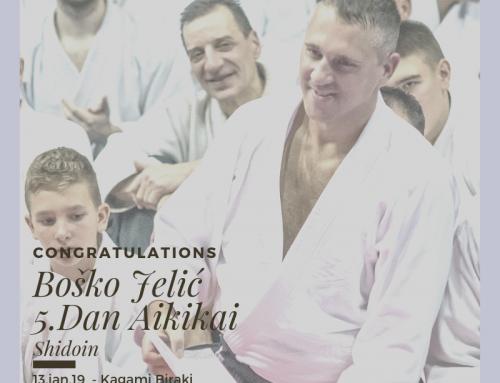 Boško Jelić je promovisan u 5.Dan Aikikia!